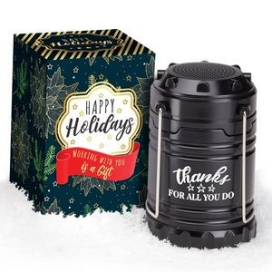 Thanks For All You Do Indoor/Outdoor Retractable Lantern With Bluetooth® Speaker in Holiday Gift
